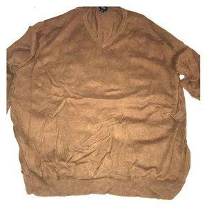 Men's XL JCrew Brown Merino Wool Sweater